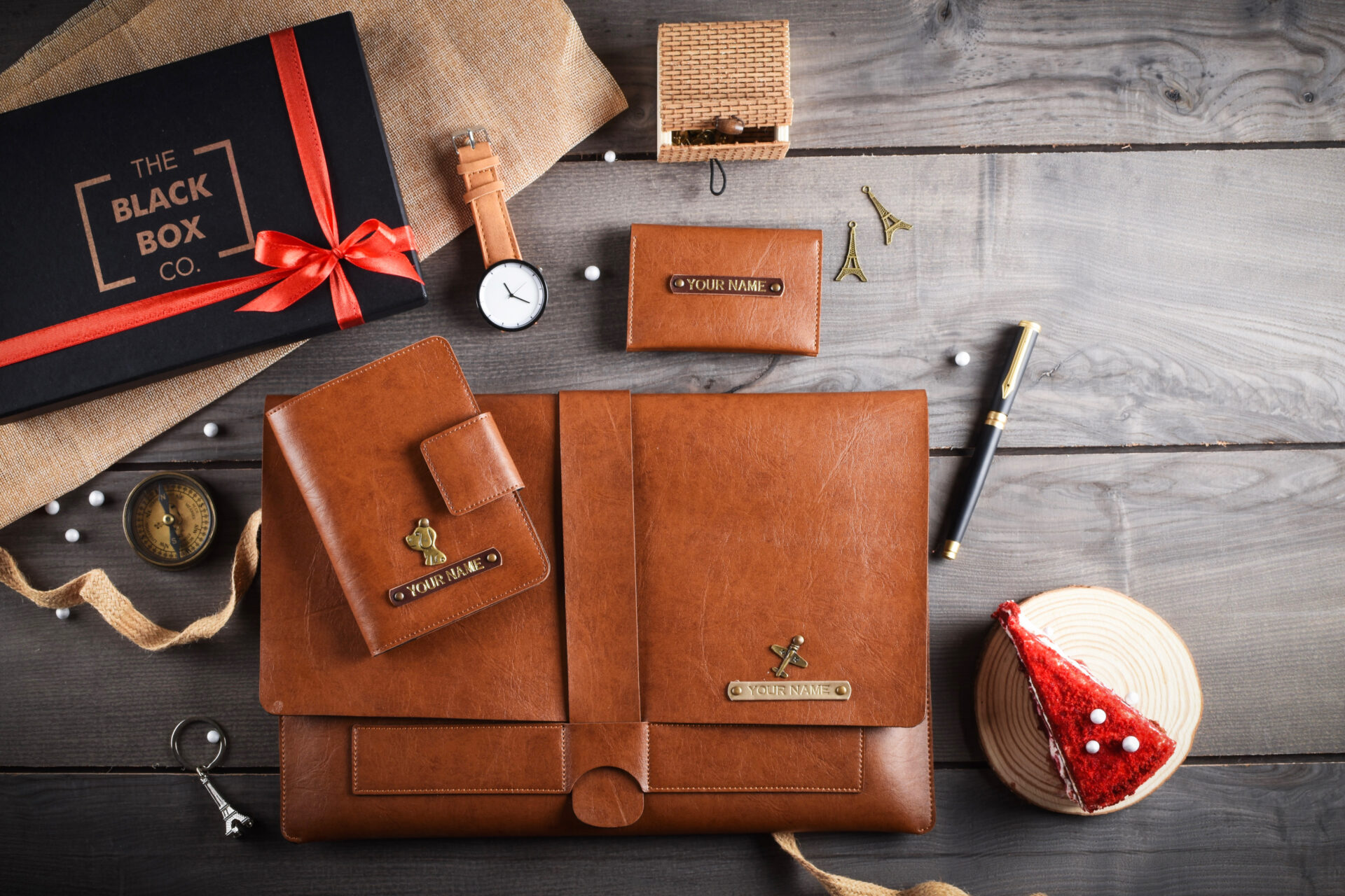 Personalised vegan leather gifts