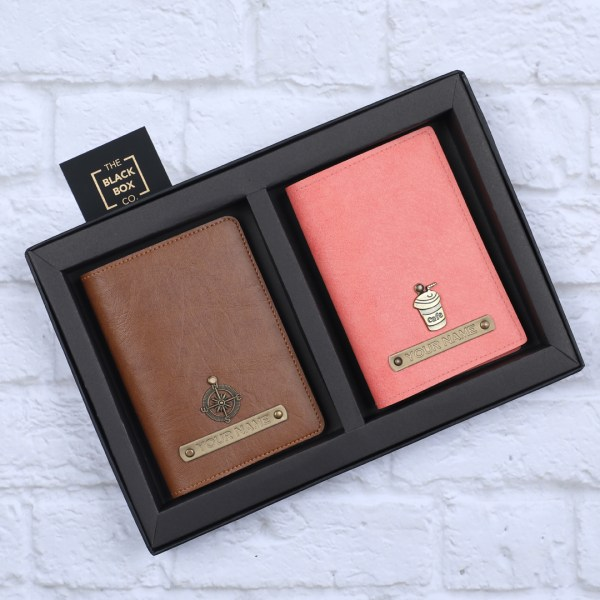 Couple Passposrt Cover Gift Box