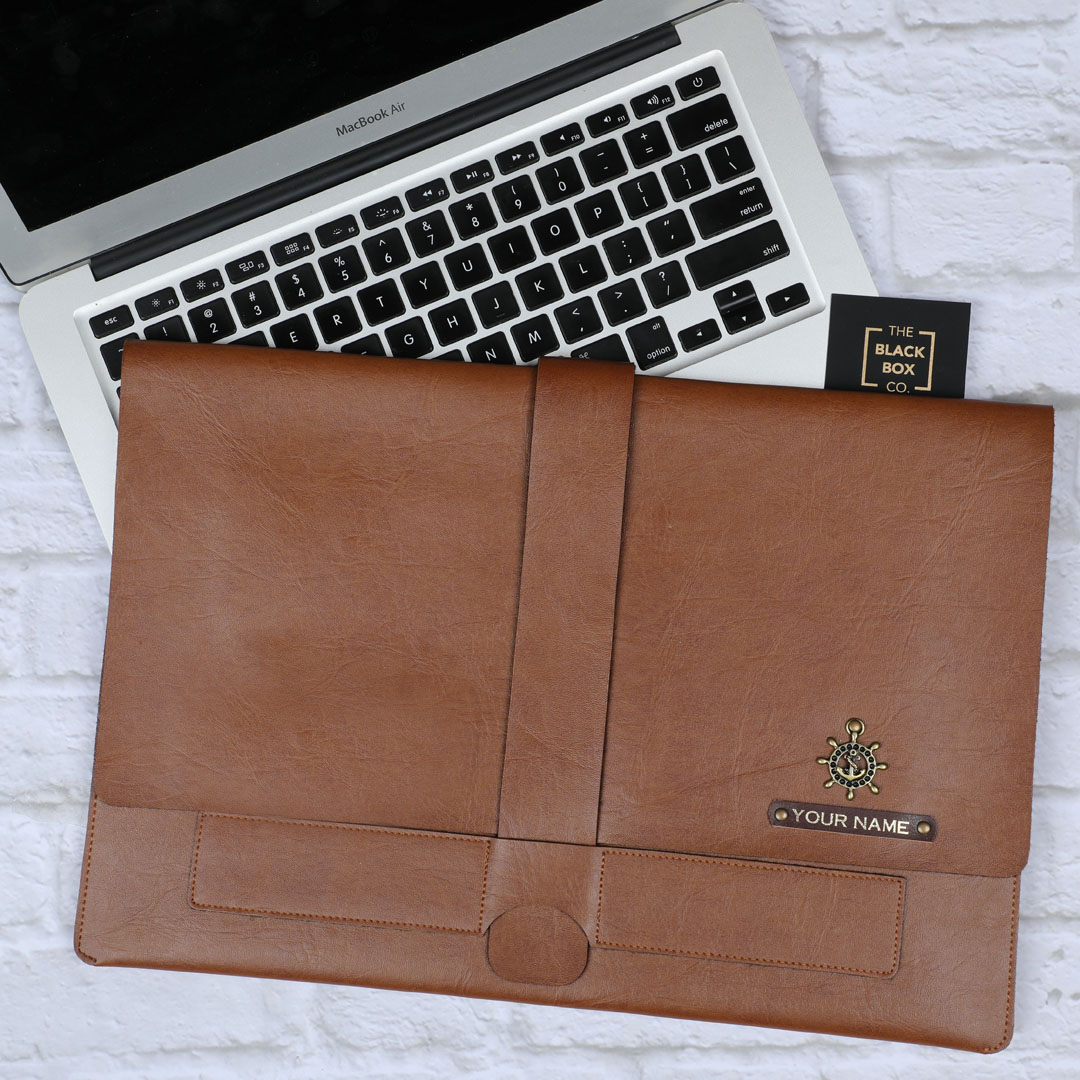 Vegan leather laptop organiser
